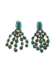 Aurelie Bidermann 'Cherokee' Clip On Earrings Blue