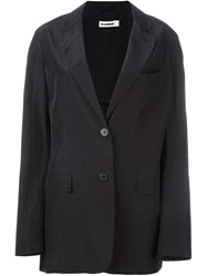Jil Sander Single Breasted Blazer Black