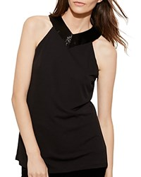 Ralph Lauren Beaded Jersey Tank Black
