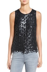 Trouve Women's Sequin Overlay Tank