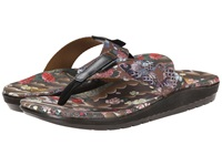Dr. Martens Mana Toe Post Tan Black Tattoo Floral Print Ecotec Men's Sandals Brown