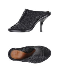 Givenchy Open Toe Mules Black