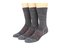 Smartwool Phd Outdoor Light Crew 3 Pack Medium Gray Men's Crew Cut Socks Shoes White