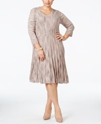 Connected Plus Size Striped A Line Sweater Dress Blush