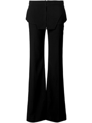 Ports 1961 Two Layer Belt Trousers Black