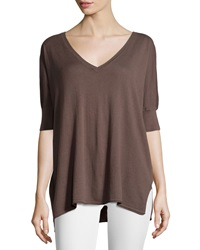 Neiman Marcus Cotton V Neck Dolman 3 4 Sleeve Sweater Beach House