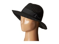 San Diego Hat Company Cth4117 Woven Yarn Stitch Fedora With Grosgrain Bow Black Fedora Hats