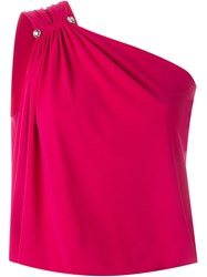 Lanvin One Shoulder Top Pink And Purple