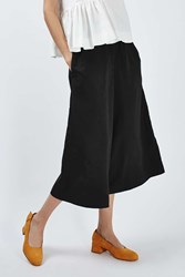 Boutique Cropped Wide Culottes By Black