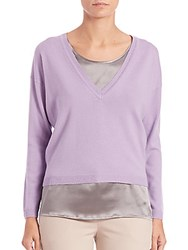 Peserico Two Piece Sweater Lilac