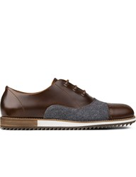 Piola Leather Flannel Cantuta Toe Cap Brouge Shoes