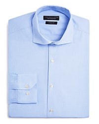 The Men's Store At Bloomingdale's Micro Houndstooth Slim Fit Dress Shirt Light Blue