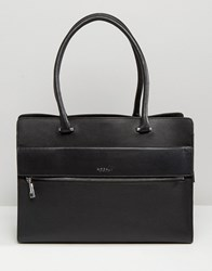 Modalu Leather Structured Tote Bag Black