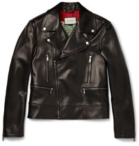 Gucci Leather Biker Jacket Black