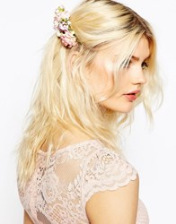 Asos Paper Flower Hair Comb Pink