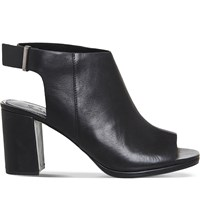 Office Muse Leather Shoe Boots Black Leather