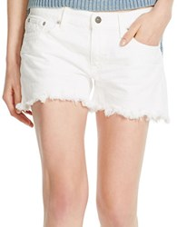 Polo Ralph Lauren Cutoff Denim Shorts White
