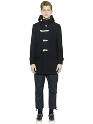 Kolor Hooded Wool Duffle Coat