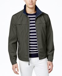 London Fog Men's Packable Stand Collar Jacket Mushroom