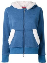 Loveless Zipped Hoodie Blue