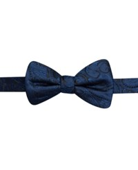 Ryan Seacrest Distinction Tonal Paisley Pre Tied Bow Tie Only At Macy's Navy