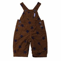 Toby Tiger Brown Star Dungarees