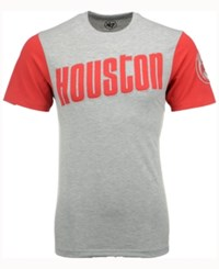 47 Brand '47 Men's Houston Rockets Triple Up T Shirt Gray Red