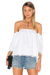 J.O.A. Off The Shoulder 3 4 Sleeve Top White