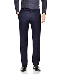 The Men's Store At Bloomingdale's Flannel Regular Fit Trousers 100 Bloomingdale's Exclusive Navy