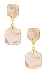 Janna Conner Toki Rhodochrisite Drop Earrings No Color