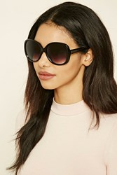 Forever 21 Square Sunglasses Black Black