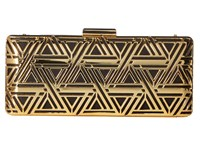 Love Moschino Metal Lace Clutch With Chain Gold Black