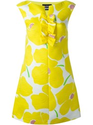 Boutique Moschino Floral Print Dress Yellow And Orange