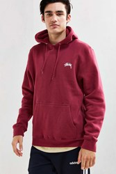 Stussy Diamond Chenille Hoodie Sweatshirt Purple