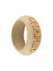 Chanel Vintage Sand Coated Cuff Grey
