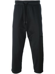 Y 3 Cropped Track Pants Black