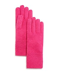 Bloomingdale's C By Waffle Knit Cashmere Gloves Blossom