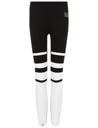 Monreal Black Stripe Gradation Leggings Striped
