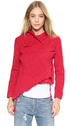 Marques Almeida Fitted Denim Jacket Red