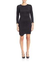 Rachel Roy Asymmetrical Sheath Dress Black