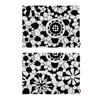 Missoni Home Bianconero Rectangular Placemat Set Of 2 Nero