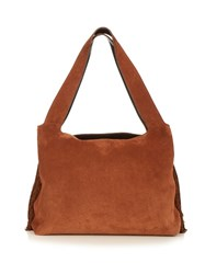 The Row Duplex Fringed Sides Suede Bag Tan
