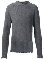 Rta Cashmere Hooded Sweater Grey