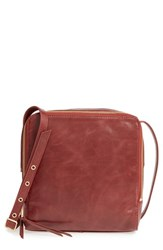 Hobo 'Small Lyra' Leather Crossbody Bag Brown Mahogany