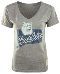 Retro Brand Women's Connecticut Huskies Graphic T Shirt Gray