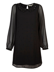 Yumi Embellished Dress Black
