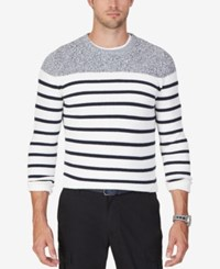 Nautica Men's Breton Striped Multi Pattern Sweater Marshmallow