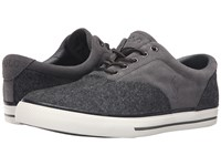 Polo Ralph Lauren Vaughn Saddle Charcoal Charcoal Menswear Tweed Sport Suede Men's Lace Up Casual Shoes Black