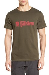Fjall Raven Men's Fj Llr Ven 'Retro' Organic Cotton Graphic T Shirt Olive