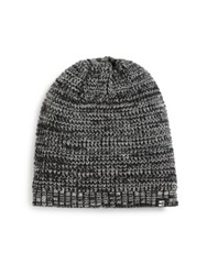 Block Headwear Marled Knit Beanie Burgundy Black